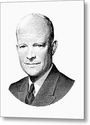 President Dwight Eisenhower Graphic Metal Print