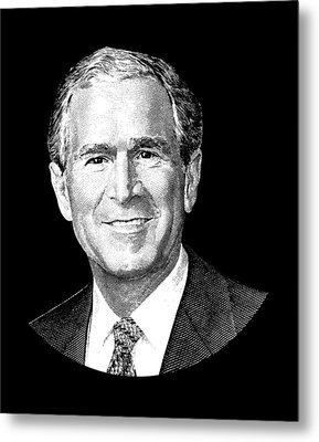 President George W. Bush Graphic Metal Print by War Is Hell Store