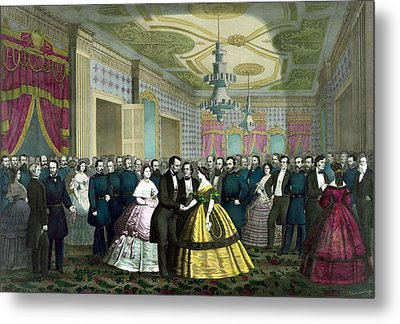President Lincoln's Last Reception Metal Print