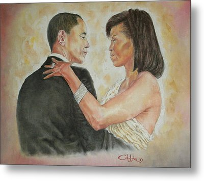 President Obama And First Lady Metal Print