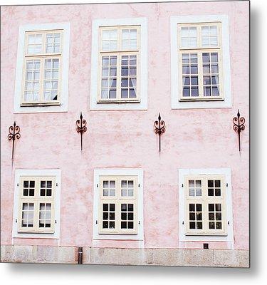 Pretty In Pink- Art By Linda Woods Metal Print by Linda Woods