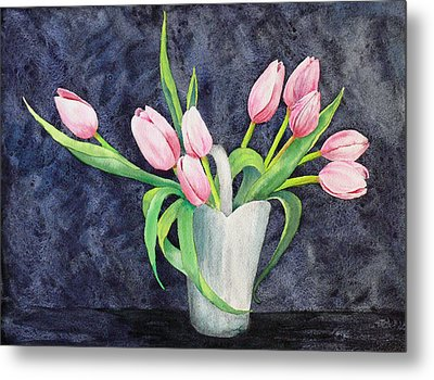 Pretty Pink Tulips Metal Print by Dee Carpenter