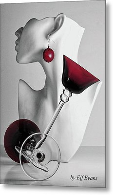 Metal Print featuring the photograph Pretty Woman 3 by Elf Evans