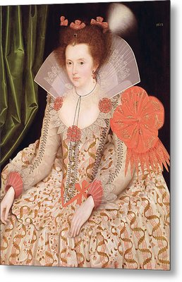 Princess Elizabeth The Daughter Of King James I Metal Print by Marcus Gheeraerts