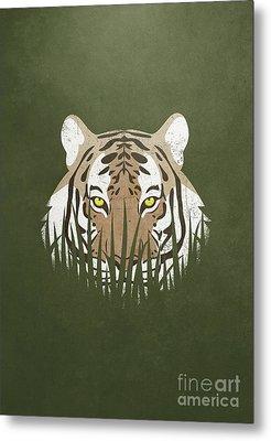 Hiding Tiger Metal Print by Sinisa Kale