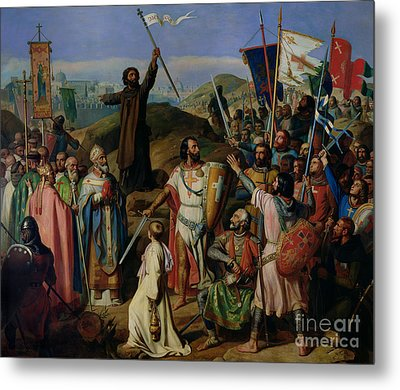 Procession Of Crusaders Around Jerusalem Metal Print