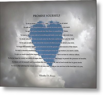 Promise Yourself Metal Print