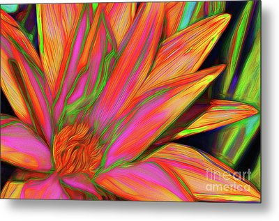 Metal Print featuring the photograph Psychedelic Daisy By Kaye Menner by Kaye Menner