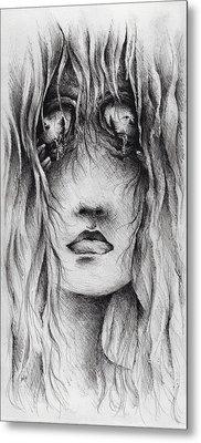 Psychotic Metal Print by Rachel Christine Nowicki