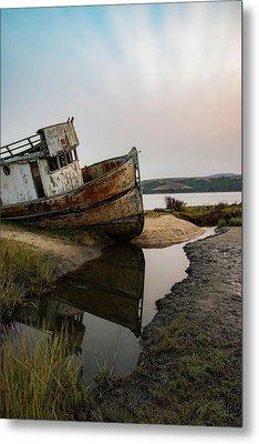 Pt. Reyes Shipwreck 4 Metal Print