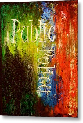 Public Policy Metal Print by Laura Pierre-Louis