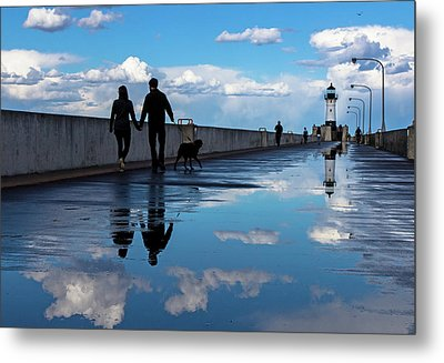 Puddle-licious Metal Print by Mary Amerman