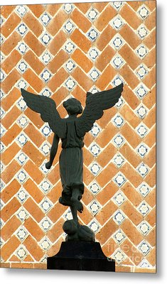 Metal Print featuring the photograph Puebla Angel Mexico by John  Mitchell