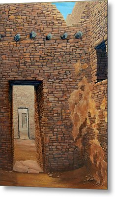 Pueblo Bonito Metal Print by Michael Cranford