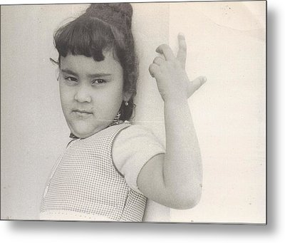 Puerto Rican-american Girl 1964 Metal Print by WaLdEmAr BoRrErO
