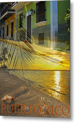 Puerto Rico Collage 3 Metal Print by Stephen Anderson
