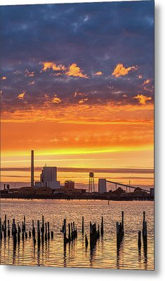 Pulp Mill Sunset Metal Print by Greg Nyquist