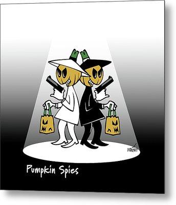 Pumpkin Spies Metal Print