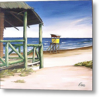 Metal Print featuring the painting Punta Del Diablo S Morning by Natalia Tejera