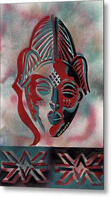 Punu Mask Metal Print
