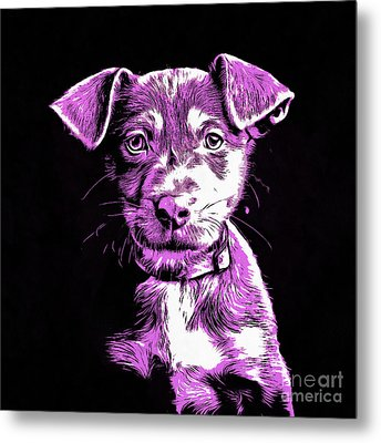 Puppy Dog Graphic Novel Drawing IIi Metal Print