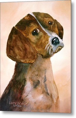 Puppy Metal Print by Larry Hamilton