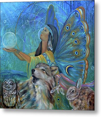 Purification Metal Print
