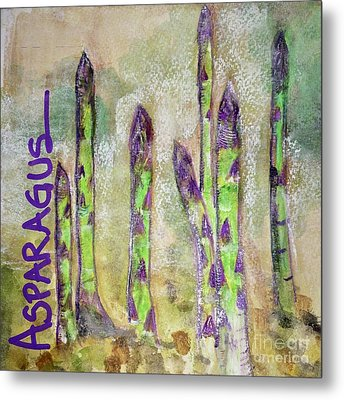 Metal Print featuring the painting Purple Asparagus by Kim Nelson