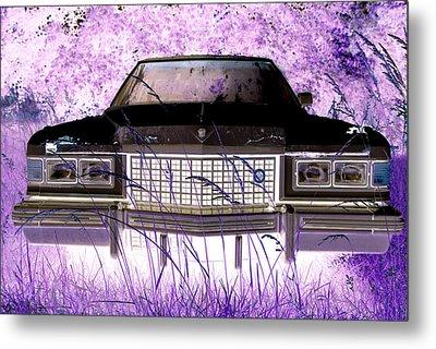 Purple Cadillac Metal Print by Julie Niemela