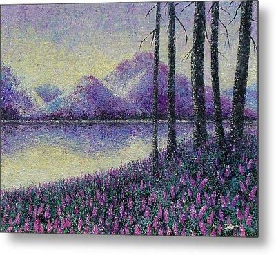Metal Print featuring the painting Purple Daze by Susan DeLain