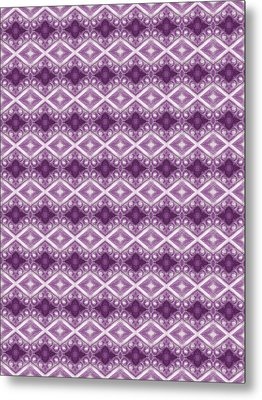 Metal Print featuring the digital art Purple Diamonds by Elizabeth Lock