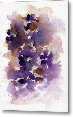Purple Flowers Metal Print by Rachel Christine Nowicki