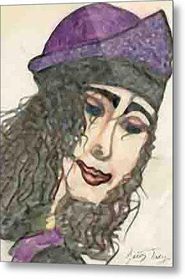 Purple Hat Metal Print