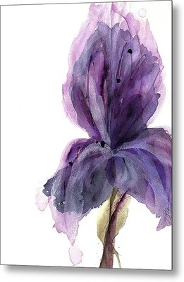 Purple Iris Metal Print by Dawn Derman