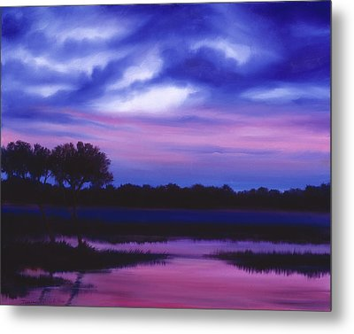 Purple Landscape Or Jean's Clearing Metal Print by James Christopher Hill