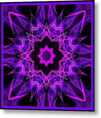 Metal Print featuring the photograph Purple Lines by Barbara MacPhail
