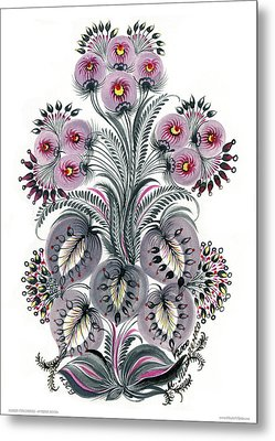 Purple Mood Metal Print by Marfa Tymchenko