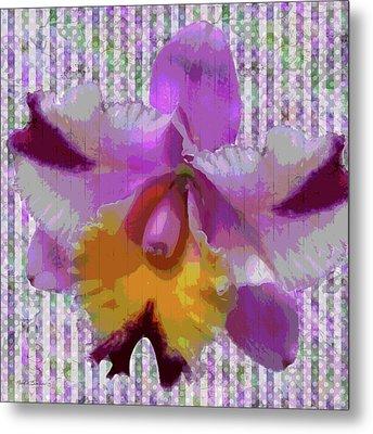 Purple Orchid Design Metal Print by Rosalie Scanlon
