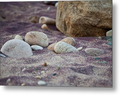 Purple Sand Metal Print