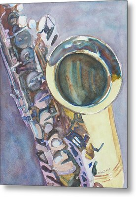 Purple Sax Metal Print by Jenny Armitage