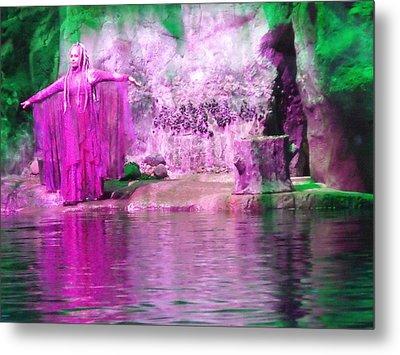 Purple Siren Metal Print by Anna Villarreal Garbis