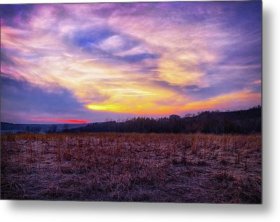 Metal Print featuring the photograph Purple Sunset At Retzer Nature Center by Jennifer Rondinelli Reilly - Fine Art Photography