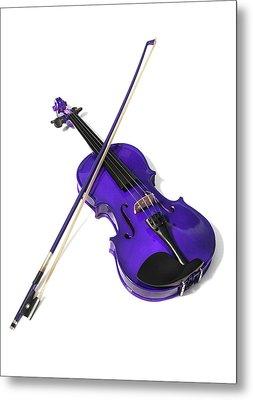 Purple Violin Metal Print
