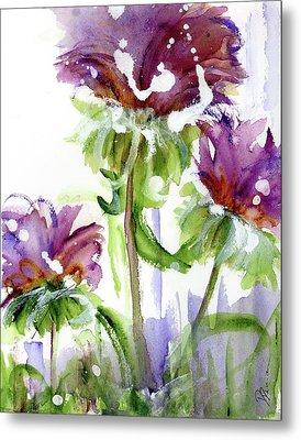 Metal Print featuring the painting Purple Wildflowers by Dawn Derman