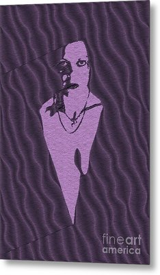 Purple Woman Metal Print