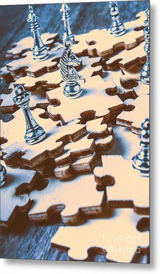 Puzzle Of Mysteries And Strategy Metal Print