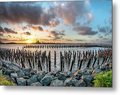 Pylons Mill Sunset Metal Print by Greg Nyquist
