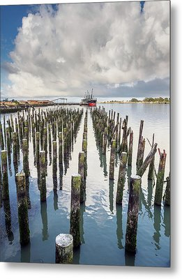 Pylons To The Ship Metal Print by Greg Nyquist