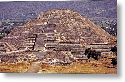 Pyramid Of The Sun - Teotihuacan Metal Print by Juergen Weiss