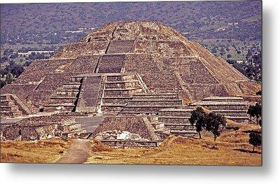 Pyramid Of The Sun - Teotihuacan Metal Print